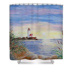 Shower Curtain featuring the painting A New Day by Susan DeLain
