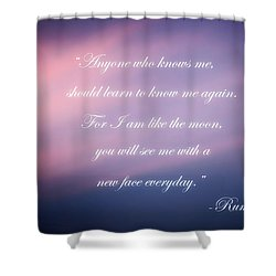 A New Face Shower Curtain