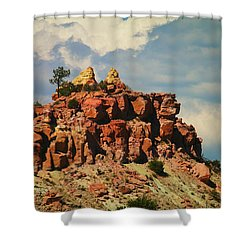 A New Mexico View Shower Curtain by Jeff Swan
