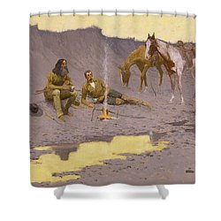 A New Year On The Cimarron Shower Curtain by Fredrick Remington