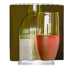 A Nice Glass Of Wine Shower Curtain by Charles Beeler