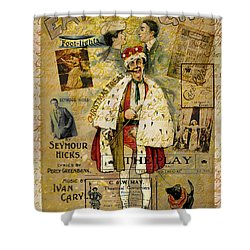 A Night On The Town Christmas Treat Shower Curtain by Sarah Vernon