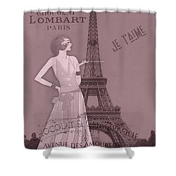 A Night To Remember Valentine Shower Curtain by Sarah Vernon