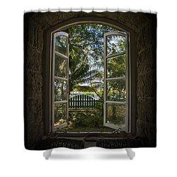 A Paradise Awaits Shower Curtain