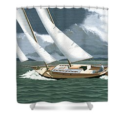 A Passing Squall Shower Curtain
