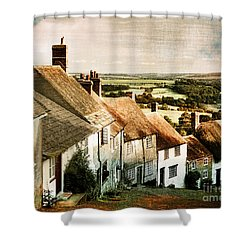 A Past Revisited Shower Curtain