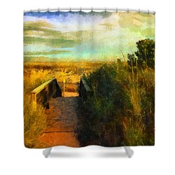 A Path To The Beach Shower Curtain