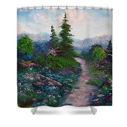 A Path Unknown Shower Curtain