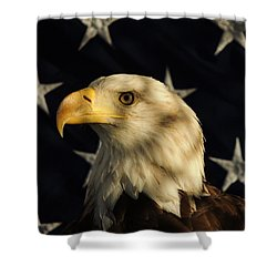 A Patriot Shower Curtain by Raymond Salani III