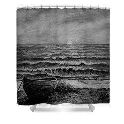 A Peaceful Evening  Shower Curtain by C Steele