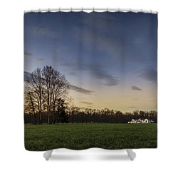 A Peaceful Sunset Shower Curtain