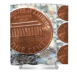 A Penny For Your Thoughts Shower Curtain by Emmy Vickers