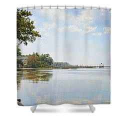 A Perfect Currituck Day Shower Curtain