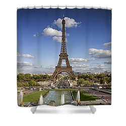 A Perfect Day In Paris Shower Curtain by Kim Andelkovic