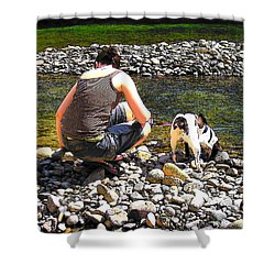 Shower Curtain featuring the photograph A Perfect Day by Micki Findlay