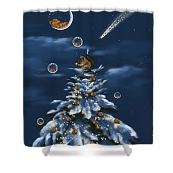 A Perfect Present Shower Curtain by Veronica Minozzi