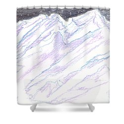 A Piece Of The Alaska Range2 Shower Curtain