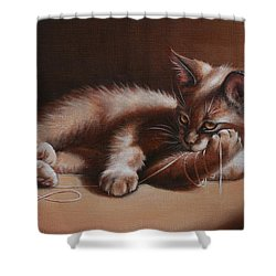 Shower Curtain featuring the painting A Place In The Sun by Cynthia House
