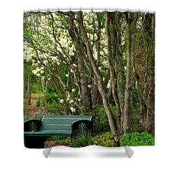 Shower Curtain featuring the photograph A Place To Sit by Rodney Lee Williams