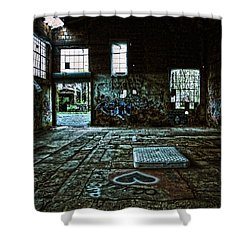 Shower Curtain featuring the photograph A Place With Heart by Debra Fedchin