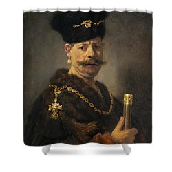 A Polish Nobleman Shower Curtain by Rembrandt