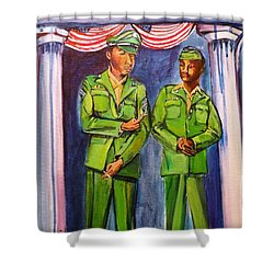Daddy Soldier Shower Curtain by Ecinja Art Works
