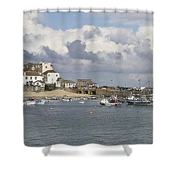 A Postcard From St Ives Shower Curtain by Terri Waters