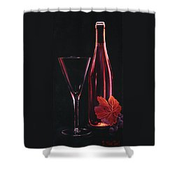 Shower Curtain featuring the painting A Prelude To Romance by Sandi Whetzel