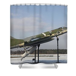A Preserved F-104g Starfighter Shower Curtain by Timm Ziegenthaler
