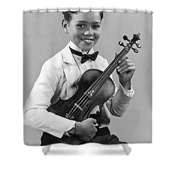 A Proud And Elegant Violinist Shower Curtain