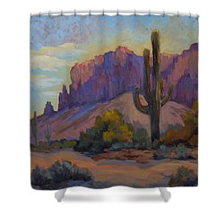A Proud Saguaro At Superstition Mountain Shower Curtain