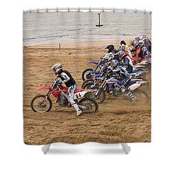 A Racing Start Shower Curtain