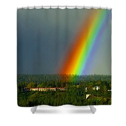 A Rainbow Blessing Spokane Shower Curtain