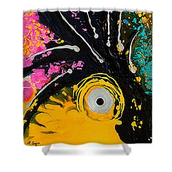 A Rare Bird - Tropical Parrot Art By Sharon Cummings Shower Curtain