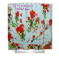 A Red Red Rose Shower Curtain