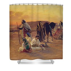 A Rest In The Desert Shower Curtain by Otto Pilny