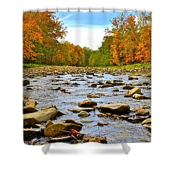 A River Runs Through It Shower Curtain by Frozen in Time Fine Art Photography