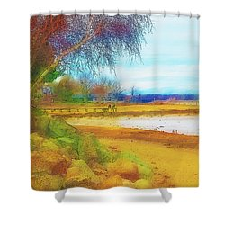 A Rocky Beach Shower Curtain