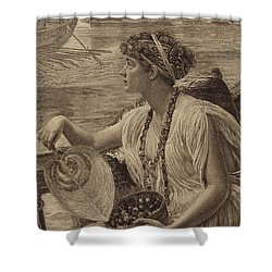 A Roman Boat Race Shower Curtain by English School