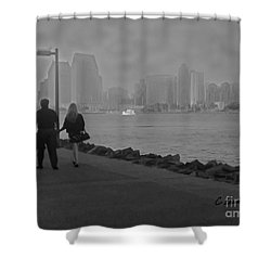 A Romantic Walk 2 Shower Curtain