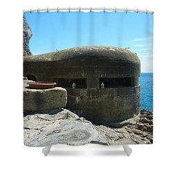 A Room With A View Shower Curtain by Adrienne Franklin