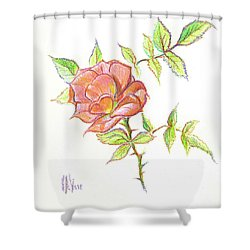 A Rose In Brigadoon Shower Curtain
