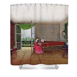A Russian Interior Shower Curtain by Micheline Blenarska