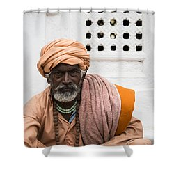 A Sadhu During Shivaratri Festival In Kathmandu Shower Curtain