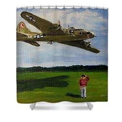 A Salute To The Greatest Generation Shower Curtain by Jack Skinner