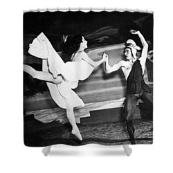 A Scene With The Russian Ballet Shower Curtain by Underwood Archives