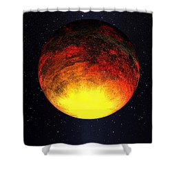A Scorched World Kepler-10b  Shower Curtain by Movie Poster Prints