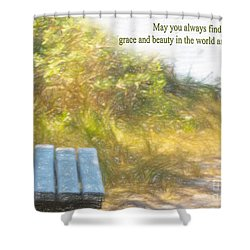 A Seat By The Ocean To Observe God's Beauty Shower Curtain