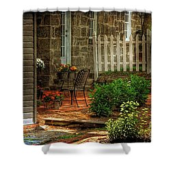 A Seat In The Shade Shower Curtain by Lois Bryan