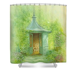 A Seat In The Summerhouse Shower Curtain by Garry Walton